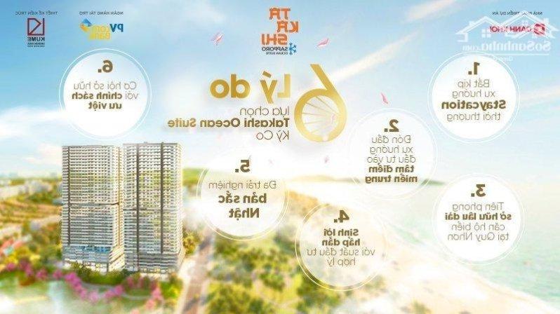 Căn hộ Nhật Takashi Ocean Suite Kỳ co 139tr View mặt tiền Biển sở hữu Vĩnh Viễn Duy nhất tại Quy Nhơn