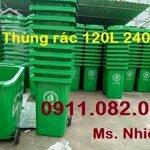 Giá Thùng Rác 660 Lít Bao Nhiêu? Thùng Rác Nhựa 120L 240L Giá Rẻ- Lh 0911.082000