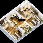 Bán gấp căn 75m2, 2PN cửa Tây Nam chung cư Anland 1 Dương Nội, giá 1,9 tỷ, có nội thất rồi