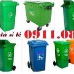 Thùng rác 240 lít giá rẻ tại cần thơ- thùng rác inox, thùng rác hình thú- lh 0911082000