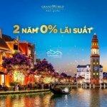 Bán Shophouse Vinpearl Grand World Phú Quốc 100M²