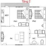 Bán gấp căn hộ tầng 2 trước tết! 2 pn, giá siêu rẻ chỉ 650 triệu, bao phí sang tên đổi chủ!
