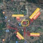 Bán lô đất 100m2 lô góc 2 mặt tiền giá bán 1,1 tỷ vị trí ngã 3 hoà lạc, gần bến xe trung tâm