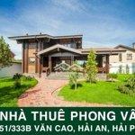 Cho thuê nhà trong ngõ quán nam