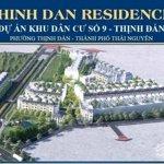 Bán đất nền thịnh đán residence, tp. thái nguyên, sổ đỏ lâu dài