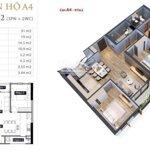 Chính chủ cần bán căn 3 phòng ngủ tầng 9, 98m2 giá bán 2 tỷ 8 bao phí tại anland lake view