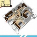 Căn hộ tầng 6 thiết kế đẹp chung cư hòa khánh