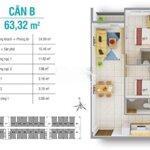 Chung cư căn hộ 8x plus trường chinh 65m² 2pn