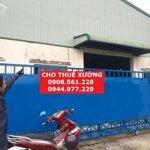 Cho thuê nhà xưởng dt: 2000m2 nằm đường ql_1a, phường an phú đông, quận 12. lh: 0903.629.839