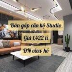 Giá rẻ giật mình! căn hộ studio vinhomes dcapitale giá chỉ 1.422 tỉ, view hồ đn, cam kết rẻ nhất tt