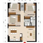 Cho thuê căn chung cư green river-9 triệu/ tháng