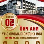 Khu biệt thự Diamond City Cồn Khương Cần Thơ, nhà phố 1 trệt 2 lầu, Q, Ninh Kiều.
