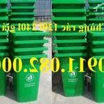 Giá rẻ thùng rác 240 lít tại hậu giang- thùng rác 120 lít nắp kín có bánh xe- lh 0911082000