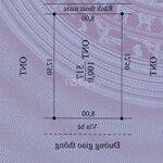 đất sổ đỏ 100m2 ( 8x12.5) phượng lâu , việt trì