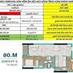 Bán căn hộ 2 phòng ngủ cực rộng giảm hơn 800 triệu