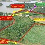 1.5ha đất nghỉ dưỡng view hồ có đảo độc lập đất có ao sình