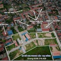 Bán lô đất ở Khu dân cư mới xã Đại Đồng, huyện Kiến Thụy, TP Hải Phòng LH: 0358316429