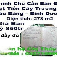 Chính Chủ Cần Bán Đất Mặt Tiền Cây Trường II Bàu Bàng Bình Dương LH: 0936032282