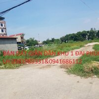 Bán đất giãn dân khu 1 gần ngay chợ đại phúc trung tâm thành phố bắc ninh LH: 0981989331