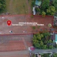 Chính chủ chuyển nhượng 4000m2 đất thổ cư mặt đường Hợp Hòa, Lương Sơn, Hòa Bình LH 0963444836
