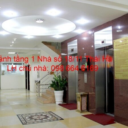 75m2 VP cho thuê tại nhà VP 9 tầng số 18/11 phố Thái Hà. Giá 16.5 triệu/tháng. LH chủ nhà 0986646169- Ảnh 2
