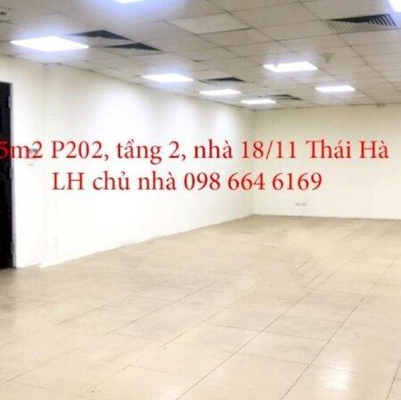 75m2 VP cho thuê tại nhà VP 9 tầng số 18/11 phố Thái Hà. Giá 16.5 triệu/tháng. LH chủ nhà 0986646169- Ảnh 5