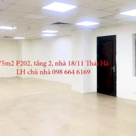 75m2 VP cho thuê tại nhà VP 9 tầng số 18/11 phố Thái Hà. Giá 16.5 triệu/tháng. LH chủ nhà 0986646169- Ảnh 6