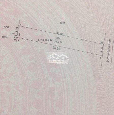Cần Bán Lại Lô Đất Dân,Diện Tích182M2, Gía 495 Triệu/ Shr- Ảnh 4