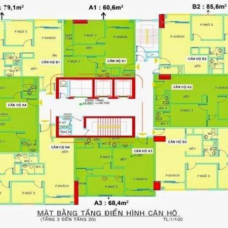 Bán căn góc lầu 9, 89m2 3PN NTCC nhà đã decor đẹp , nội thất cao cấp đang có HĐT giá chốt 3.5 tỷ có TL ít !!!- Ảnh 3