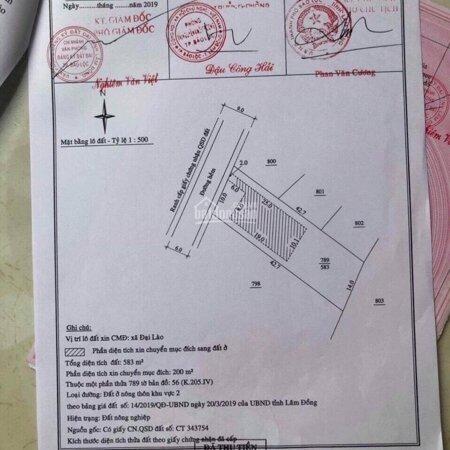 Bán Đất Đại Lào, Tp. Bảo Lộc Chỉ 1,4 Triệu/M2 Giáp Hồ Tự Nhiên View Đẹp Có Thổ Cư 200M2- Ảnh 1