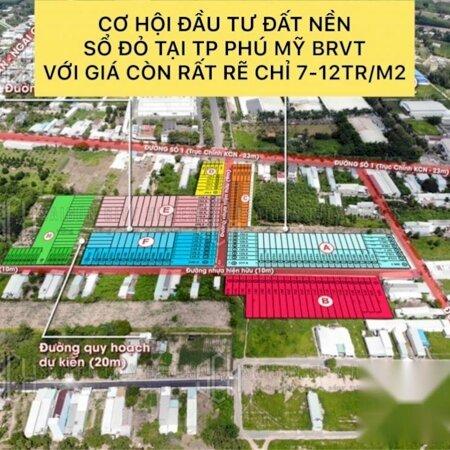 Bán lô đất VỊ TRÍ 4 MẶT TIỀN ĐƯỜNG ngay TX Phú Mỹ giá chỉ 1.5 tỷ Bank cho vay 80%, Khu phố đông đúc sầm uất, LH 0935531351- Ảnh 6