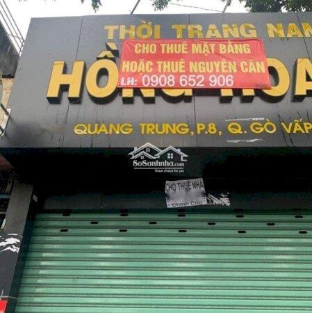 Nhà Mặt Tiền Quang Trung Gần Chợ Htt Vỉa Hè Thoáng- Ảnh 2