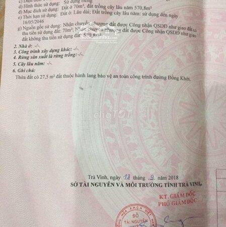 Chính Chủ Cần Bán Lô Đất Mặt Tiền Đồng Khởi P9 Tv- Ảnh 3