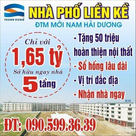 Bán Nhà Phố Liền Kề 5 Tầng Khu Đô Thị Mới Nam Hải Dương- Ảnh 1