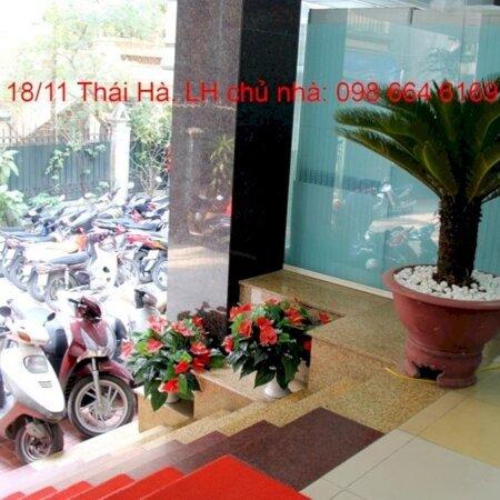 82 và 170m2 cho thuê tại nhà VP 9 tầng số 11 Thái Hà. Giá 17 triệu/tháng. LH trực tiếp chủ nhà 0986646169- Ảnh 9
