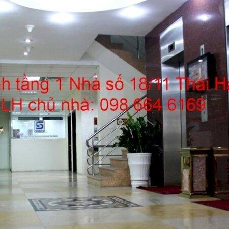 82 và 170m2 cho thuê tại nhà VP 9 tầng số 11 Thái Hà. Giá 17 triệu/tháng. LH trực tiếp chủ nhà 0986646169- Ảnh 8