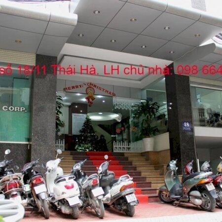 82 và 170m2 cho thuê tại nhà VP 9 tầng số 11 Thái Hà. Giá 17 triệu/tháng. LH trực tiếp chủ nhà 0986646169- Ảnh 12