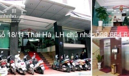 82 và 170m2 cho thuê tại nhà VP 9 tầng số 11 Thái Hà. Giá 17 triệu/tháng. LH trực tiếp chủ nhà 0986646169- Ảnh 11