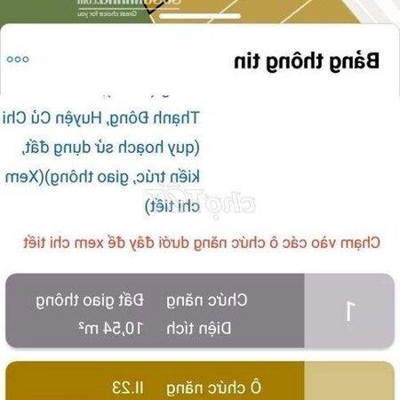 Đất Cu Chi 218M Tan Thanh Dong- Ảnh 5