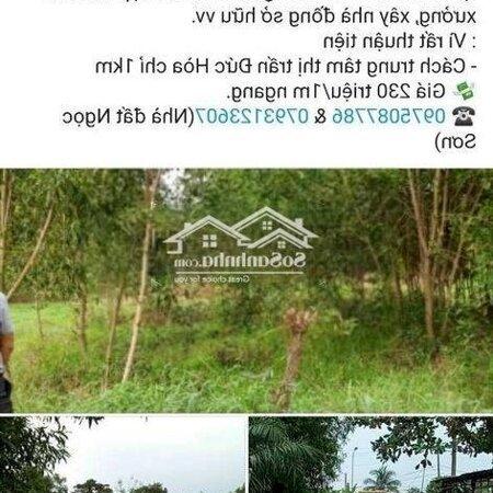 Đất Khu 4Thi Trấn Đức Hoà Gần Công Viên Võ Văn Tần- Ảnh 2