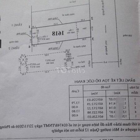 Nhà Thạnh Xuân 33Diện Tích4*14 Shr Quận 12 (1 Lầu)- Ảnh 1