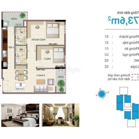 Chung Cư Quận Long Biên 74M² 2 Phòng Ngủđể Lại Hết Đồ- Ảnh 1