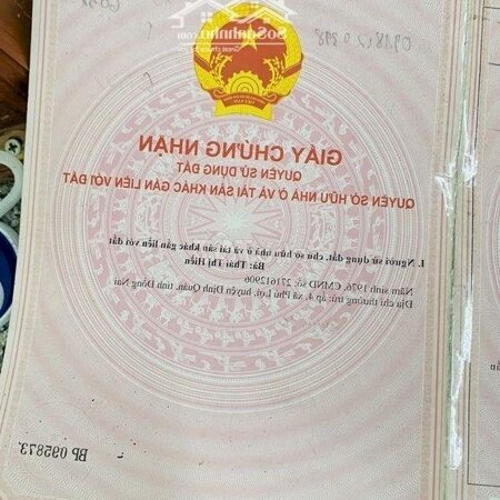 Cần Bán Nhà Ở Phưong Phú Lợi, Tt Đinh Quán,Thổ Cư- Ảnh 4