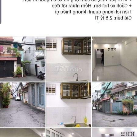 Nhà Hẻm Xe Hơi Lê Quang Định-Nơ Trăng Long 2Ty500- Ảnh 1