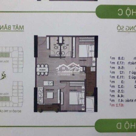 Chung Cư Ecohome 3 67,4M2 2 Phòng Ngủ2Wc- Ảnh 2