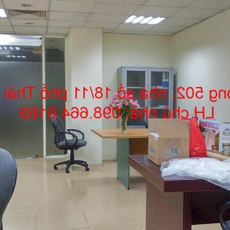 Chủ nhà cho thuê 45m2 tầng 5 tại nhà VP 9 tầng số 11 Thái Hà. Giá 10 triệu/tháng. LH 0986646169- Ảnh 2