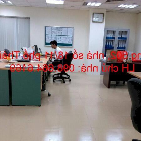 Chủ nhà cho thuê 45m2 tầng 5 tại nhà VP 9 tầng số 11 Thái Hà. Giá 10 triệu/tháng. LH 0986646169- Ảnh 1