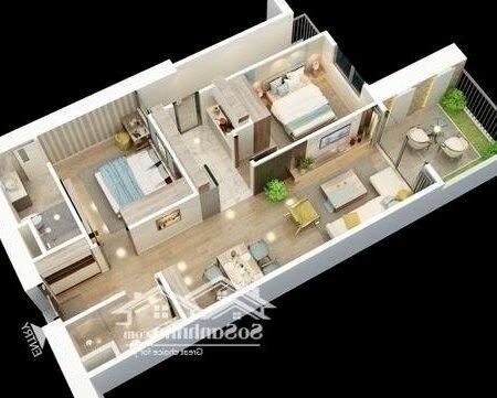 Chung Cư Bid Residence 79M² 2 Phòng Ngủ Vay Trả Góp 0%- Ảnh 4