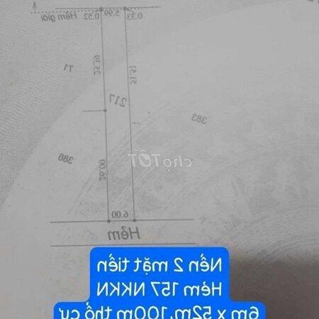 Nền 2 Mặt Tiền Hẻm - (6M X 52M)- Ảnh 3