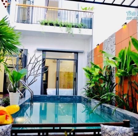 Cho Thuê Villa Hồ Bơi Cực Đẹp, Mới Xây Gần Biển, 4 Phòng Ngủgiá Siêu Rẻ, Chỉ 15 Triệu- Ảnh 1